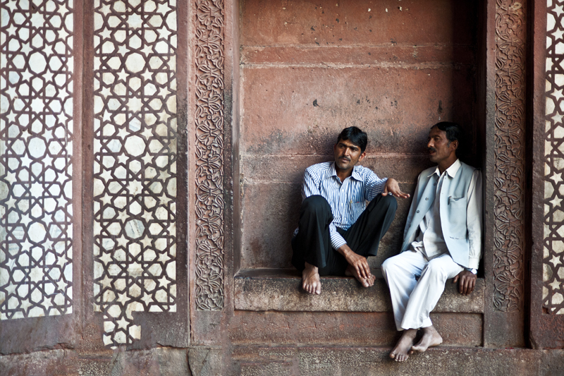 two men in a mosque