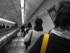 yellow strap; down subway