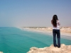 girl atop a salalah outlook