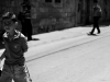 arab boy in hebron; armed israelis